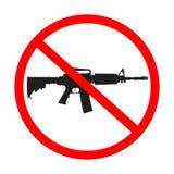 Ningunos armas permitidos ilustración del vector