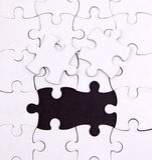 Ningunos dos elementos, espacio en blanco, rompecabezas Imágenes de archivo libres de regalías