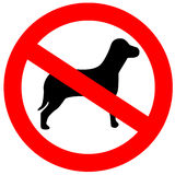 Ningunos perros permitidos ilustración del vector