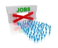 Ningunos trabajos: desempleo. Aislado en el concepto blanco. Imagenes de archivo
