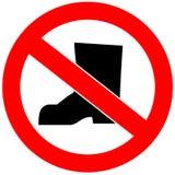 Ningunos zapatos permitidos stock de ilustración