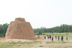 NINGXIA, ΚΙΝΑ - 17 Αυγούστου 2015: Δυτικοί τάφοι Xia (Xixia Wangling) Στοκ φωτογραφίες με δικαίωμα ελεύθερης χρήσης