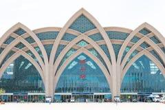 NINGXIA, CHINA - 19 de agosto de 2015: Estação de trem de Yinchuan em Yinchu Foto de Stock