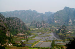 Ninh Bình limestone scenery Royalty Free Stock Photos