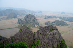 Ninh Bình limestone scenery Stock Photo