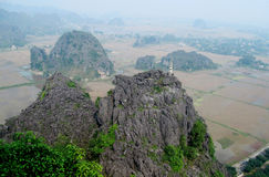 Ninh Bình limestone scenery Royalty Free Stock Images