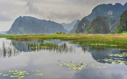 Ninh Binh område i Vietnam Arkivfoto