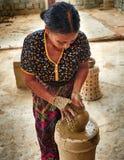 Ninh Thuận province, Vietnam - November 2, 2014 : A village ce Stock Photo