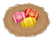 Ninho com ovos da páscoa - ilustração Fotografia de Stock Royalty Free