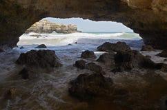Ninho da Andorinha beach in Algarve, Portugal Stock Image