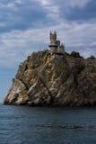 Ninho da andorinha do castelo em Crimeia Fotografia de Stock Royalty Free