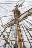 Ninho de corvos no navio alto Imagens de Stock