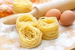 Ninho e ovos dos espaguetes Foto de Stock