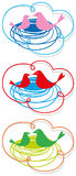 Ninho-em-nuvem ilustração stock