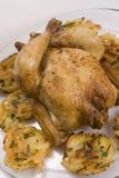 Ninhos Roasted da galinha e do vegetal Fotografia de Stock Royalty Free