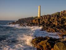 Ninini Point Lighthouse on Nawiliwili Bay in Kaua`i` Royalty Free Stock Photography