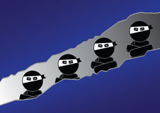 Ninja人标志 库存图片