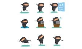 Ninja吉祥人设置了2 图库摄影