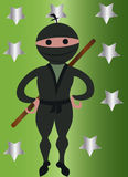 Ninja男孩 皇族释放例证