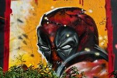 Ninja γκράφιτι Στοκ Εικόνες