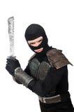 Ninja το μαχαίρι που απομονώνεται με στοκ εικόνα