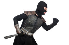 Ninja при изолированный нож Стоковое фото RF