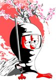 动画片小鸡ninja 库存照片