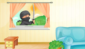 Ninja stock illustratie