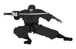 Το Ninja σύρει Στοκ Φωτογραφίες
