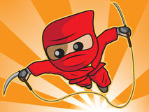 Ninja Angriff Stockfotografie