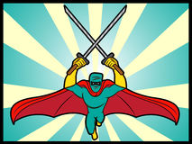 Ninja Angriff Stockfoto