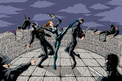 Ninja Attack vector illustration