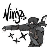 Ninja attack Stock Photo