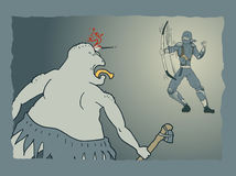 Ninja attack vignette Stock Image