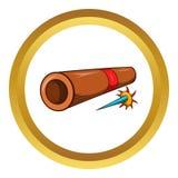 Ninja bamboo tube with arrow vector icon Stock Photography