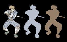 Ninja banner Stock Photo