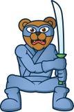 Ninja Bear com desenhos animados da espada Imagens de Stock Royalty Free
