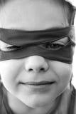 Ninja boy. Portrait of a Boy with ninja eye mask Stock Photography