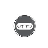 Ninja Cartoon Face Wear Mask People Emotion Icon. Vector Illustration Royalty Free Stock Images