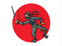 Ninja Cartoon Stock Photography