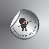 Ninja cartoon theme Stock Photo