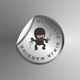Ninja cartoon theme Stock Photography