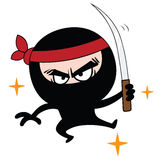 Ninja Cartoon Vector. Ninja Cartoon With Samurai Vector Character Design Clipart Stock Photos