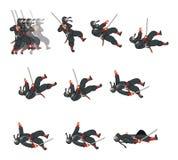 Ninja Cat Game Sprite Royaltyfria Bilder