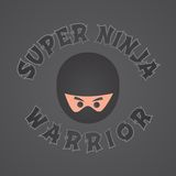 Ninja character theme Royalty Free Stock Image