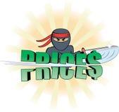 Ninja che taglia i prezzi Fotografia Stock