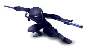 Ninja com polo Foto de Stock Royalty Free