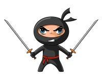 Ninja con katana Imagen de archivo libre de regalías