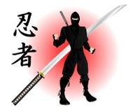Ninja con katana Fotos de archivo