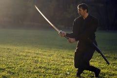 Ninja con la espada foto de archivo libre de regalías